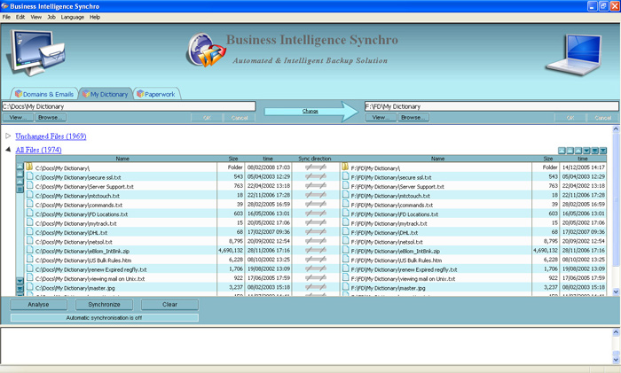 Business Intelligence Synchro